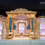 Exquisite Wooden Wedding Hall Mandap Design
