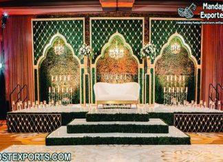 Glorious Wedding Stage Candle Walls Backdrop Setup