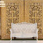 Golden Floral Carving Wedding Backdrop Frame