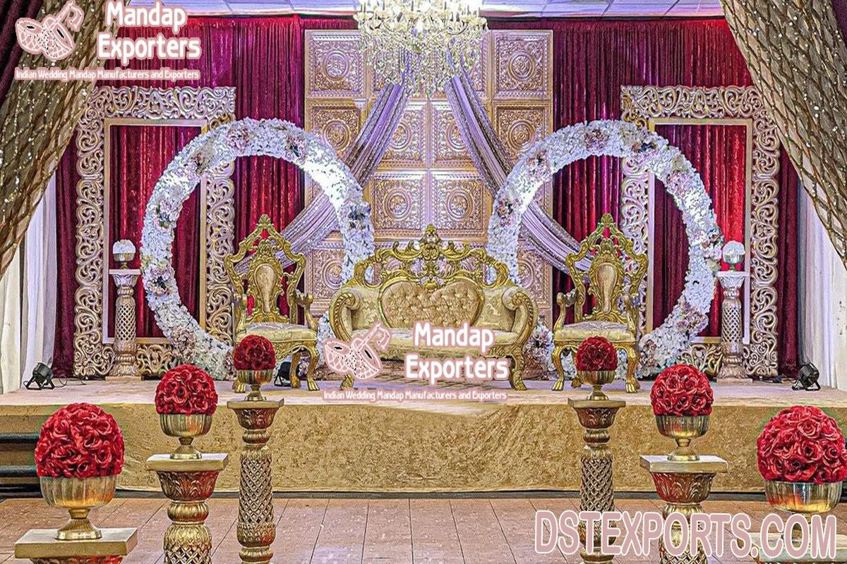 Gorgeous Indian Wedding Stage Decoration