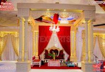 Gorgeous Wedding Triveni Mandap Decor
