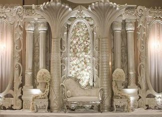 Grand Big Fat Indian Wedding Stage Decoration
