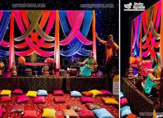 Grand Punjabi Style Mehndi Event Decoration