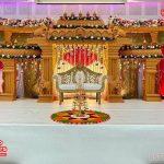 Grand Regal Style Manavarai Wooden Mandap Set
