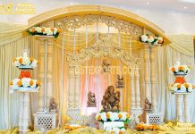 Grand Wedding Ganesha Wooden Welcome Decoration