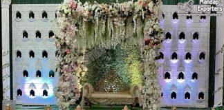 Indian Style Wedding Candle Backdrop Setup
