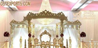 Indian Style Wedding Wooden Mandap Setup