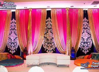 Indian Wedding Embroidered Velvet Backdrops