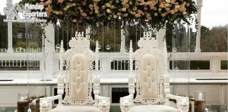 King & Queen Wedding White Throne Chairs