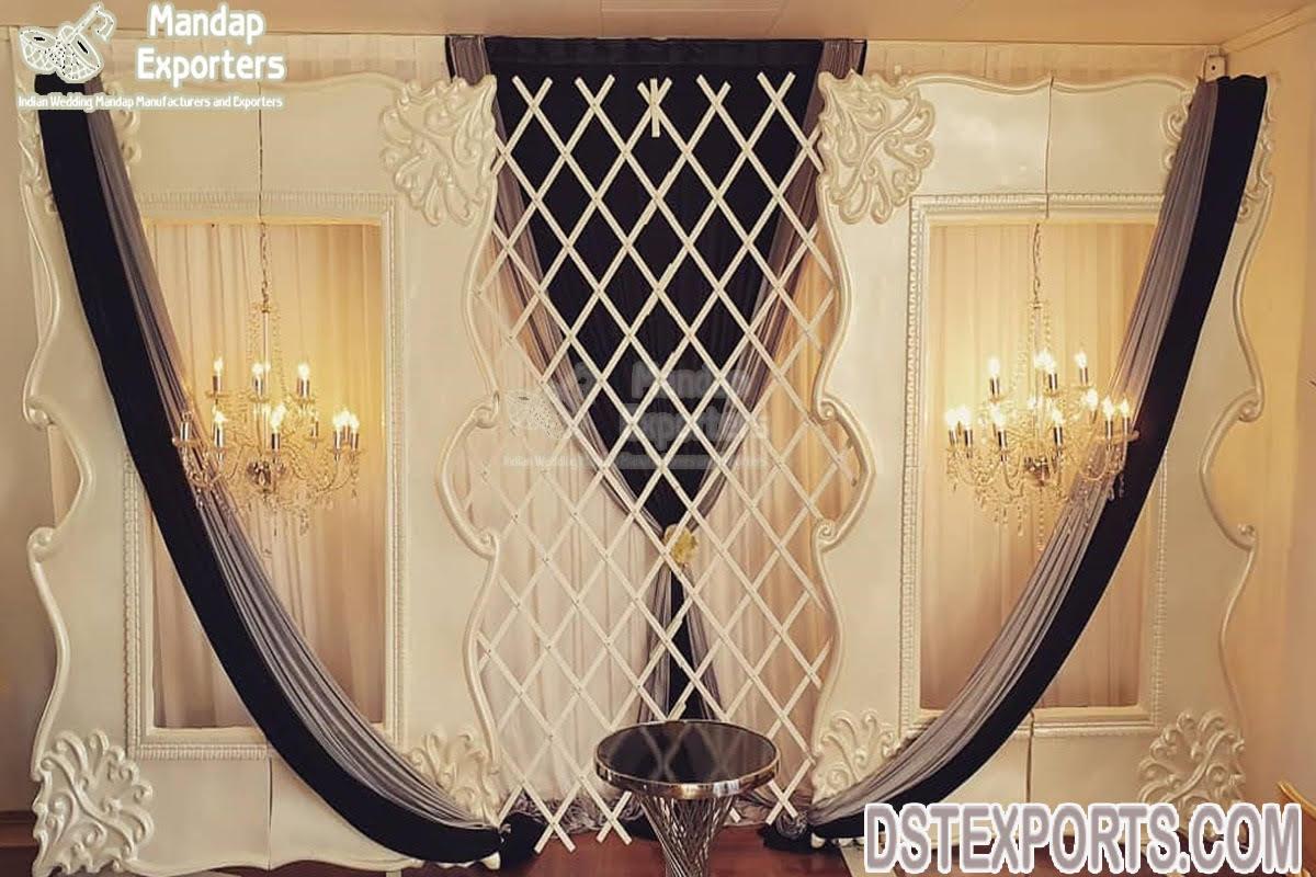 Latest White Carved Fiber Frame For Wedding