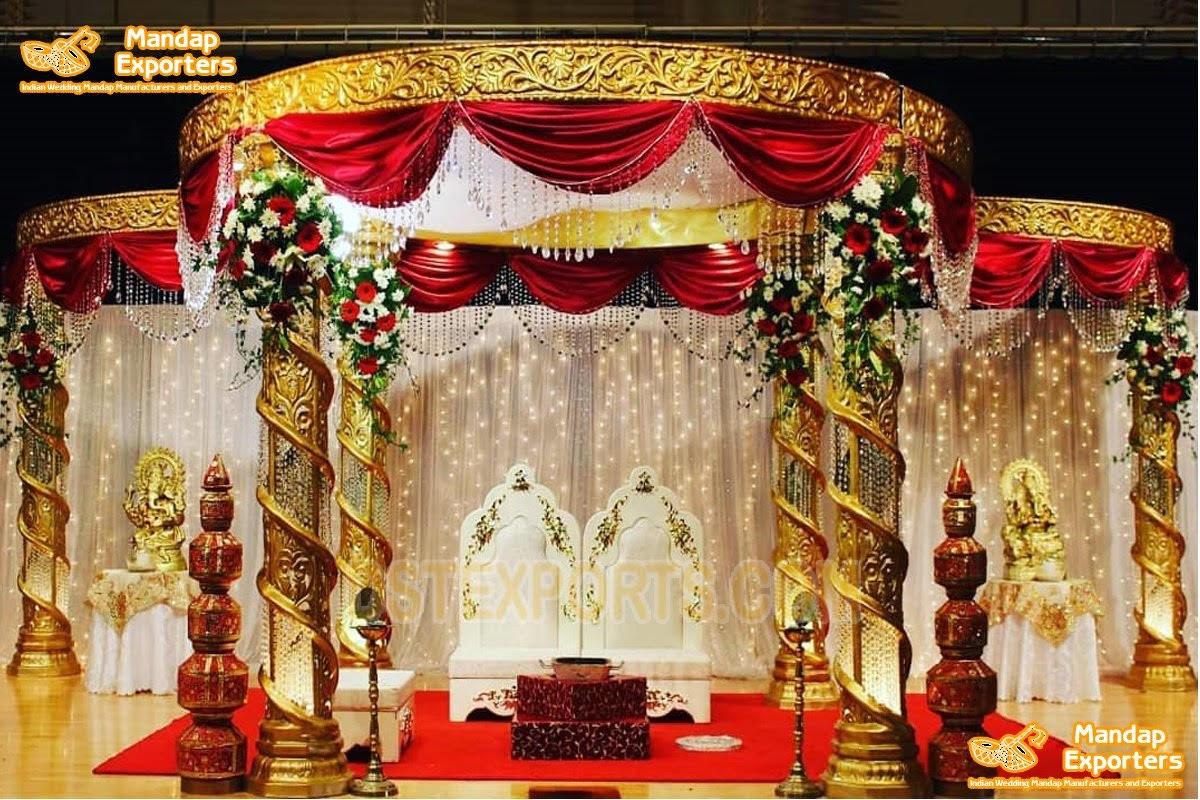 Lavish Indian Wedding Crystal Mandap Setup