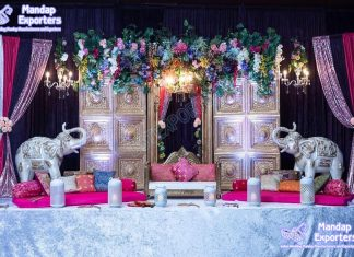 Lavish Wedding Sangeet Stage Decoration