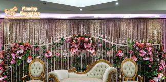 Luxurious Wedding White Gold Italian Sofa Set