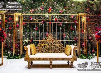 Luxury Wedding Stage Bride Groom Sofa