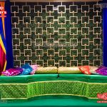 Mehndi Sangeet Event Candle Back Wall