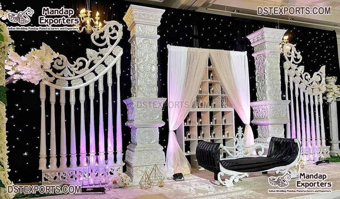 Modern Roman Style Wedding Stage Decor