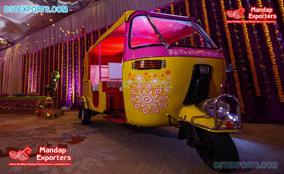 New Style Photo Booth Rickshaw For Luxury Wedding