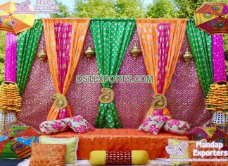 Outdoor Wedding Colorful Backdrop Curtains