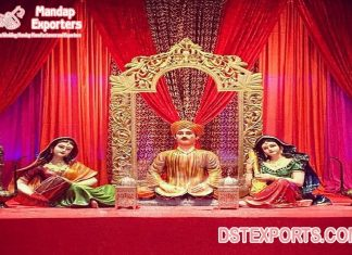 Rajasthani Musical FRP Statues For Wedding Decoration