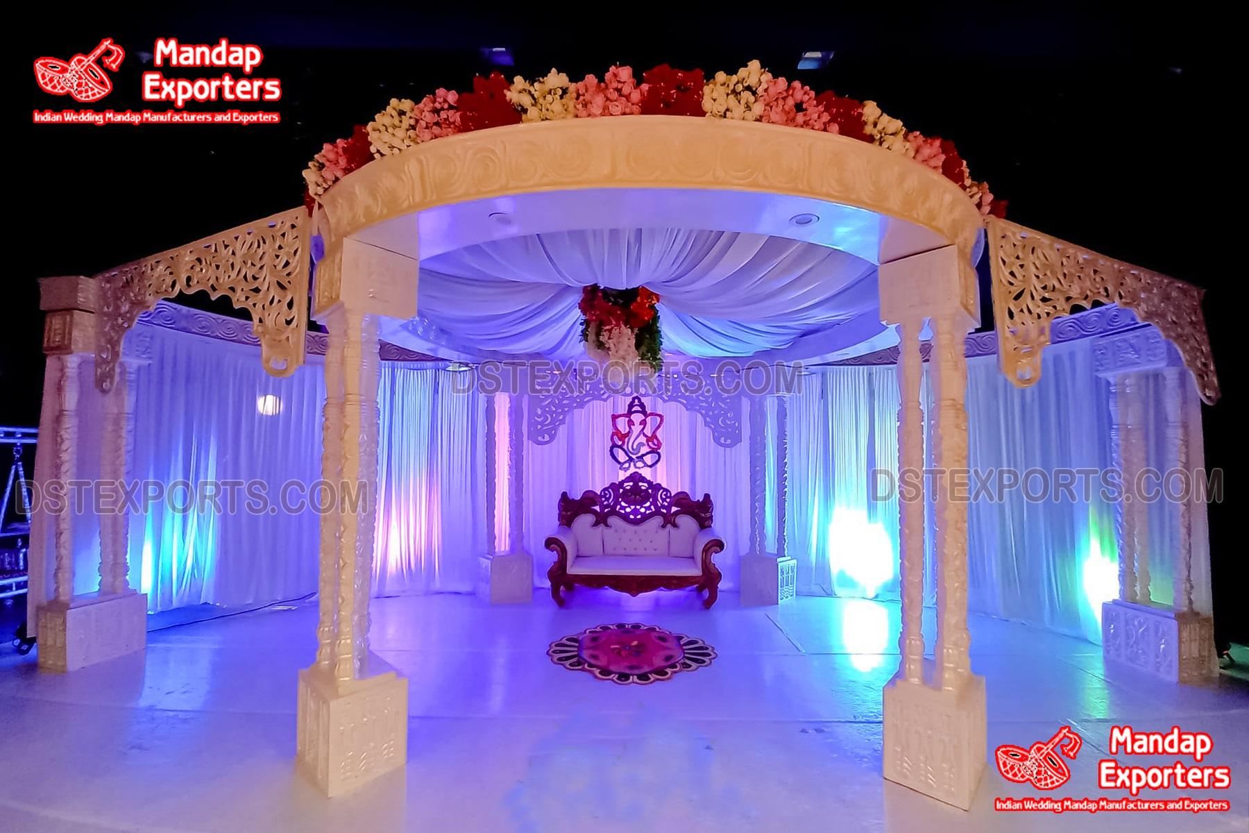 Royal White Palace Wedding Mandap Set