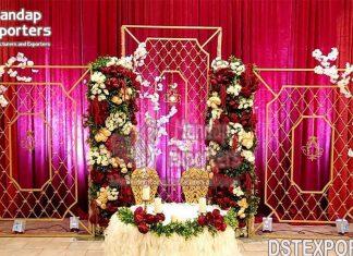 Splendid Wedding Stage Metal Candle Walls