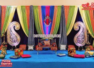 Stunning Mehndi Night Stage Decorations