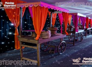 Stylish Food Cart For Luxury Wedding Decor