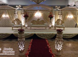 Stylish Mustache Design Wedding Stage Decor