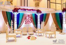 Traditional White Finish Wedding Mandap Chairs