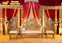 Wedding Maharaja look Bride Groom Sofa Set
