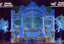 Amazing Reception Stage Backdrop Gate Panel