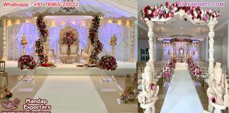 Arya Mandap for Gujarati Wedding Ceremony