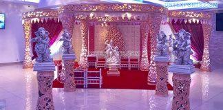 Attractive Delizio Pillar Wedding Mandap Decoration