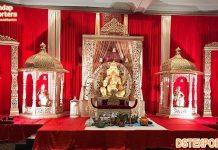 Big Temple Theme Traditional Wedding Stage