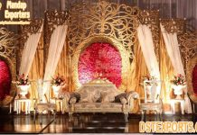 Classical Oval Panel For Wedding Reception Stage