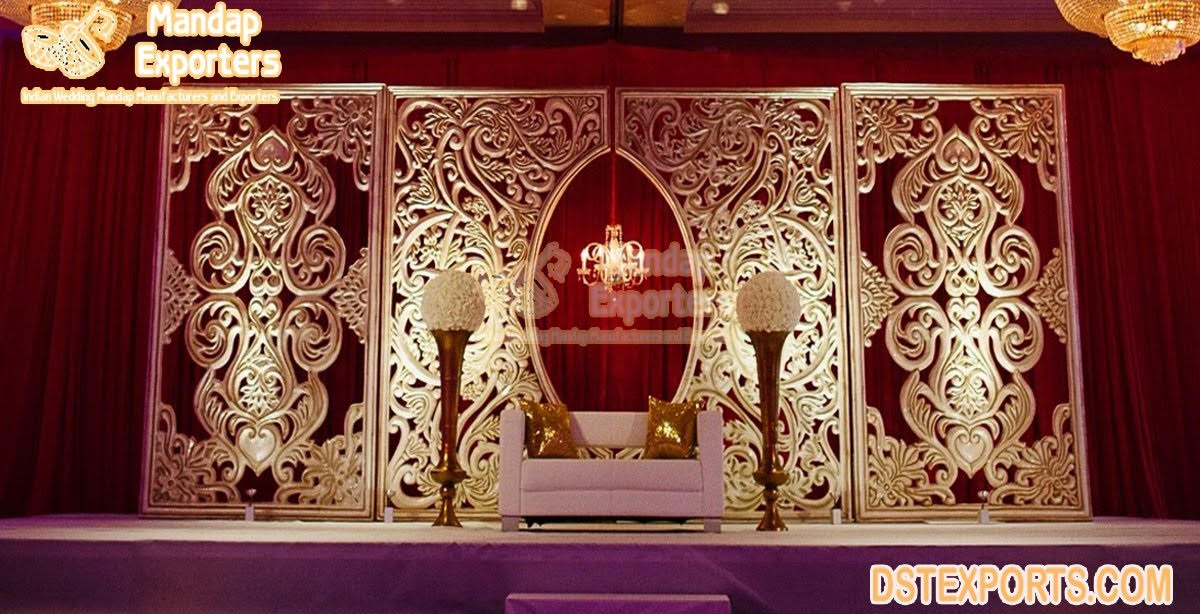 Gorgeous Floral Carved Wedding Backdrop Frames
