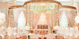 Gorgeous King Queen Wedding Mandap Setup