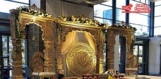 Grand Exclusive Indoor Wedding Stage Decoration