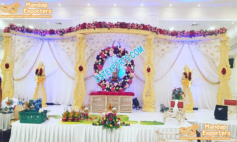Indian Wedding  Wooden Mandap Decoration