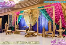 Lovely Sangeet Stage Swing Seat for Bride