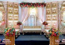 Luxury Golden Reception Night Stage Decor