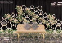 Modern Wedding Hexagonal Candle Wall Decor