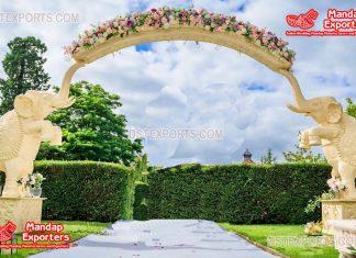 New Elephant Wedding Entry Fiber Gate Decor