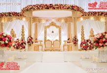 New Wedding Triple Pole Fiber Mandap Decor