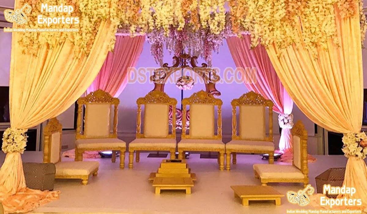 Premium Quality Wedding Mandap Chairs Set