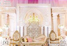 Princess White Theme Wedding Stage In California