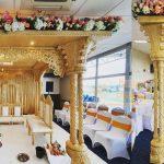 Traditional Triple Pole Wedding Wooden Mandap