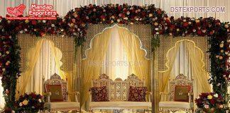 Wedding Royal Carving Golden Sofa Set Designs