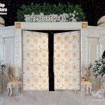 White Theme Arabian Style Wedding Stage